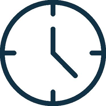 icône pendule pour connaitre les horaires du cabinet